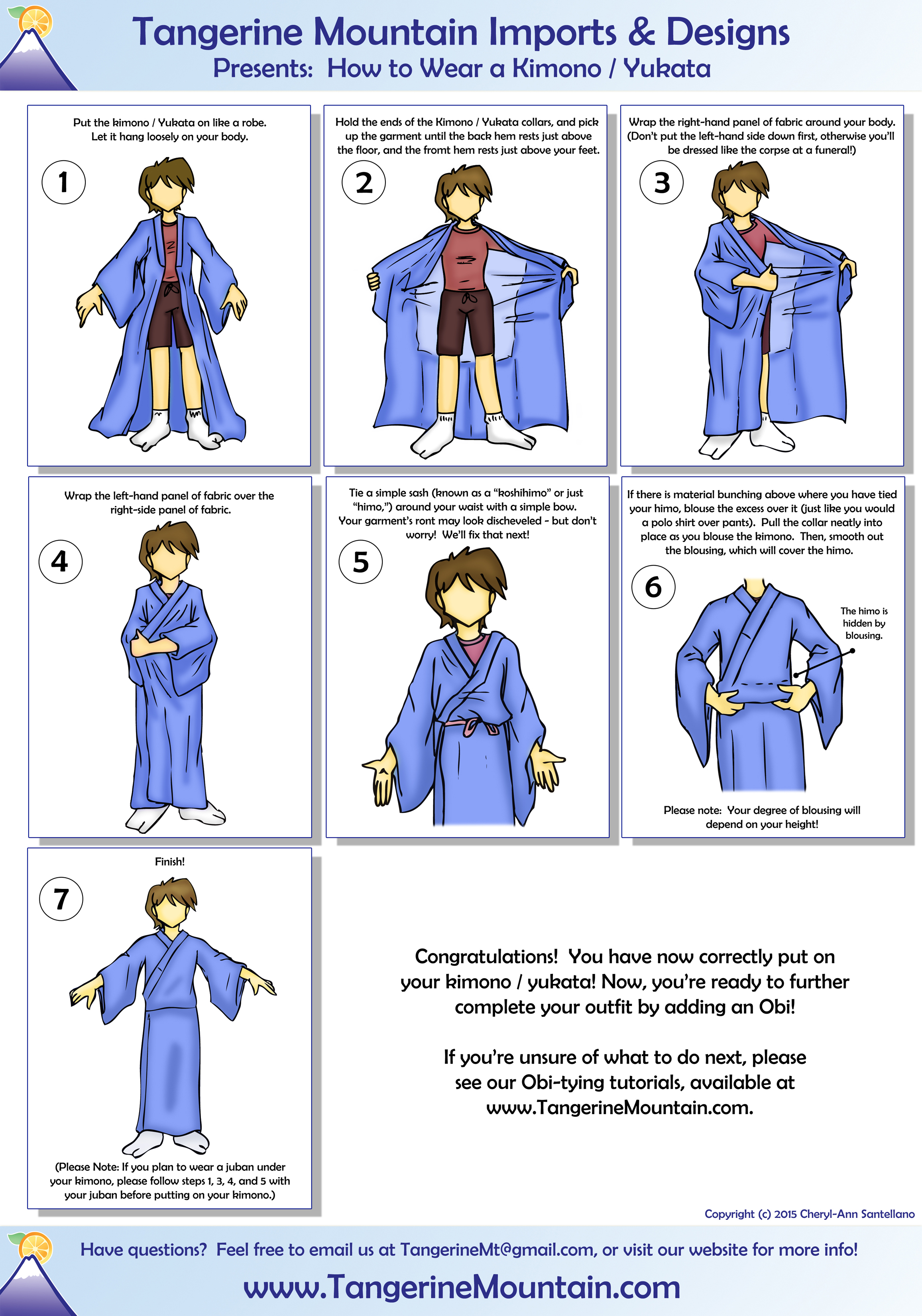 Watch - How to yukata wear step by step video